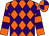 Orange, purple diamonds, purple hoops on orange sleeves, orange and purple quartered cap (Lay, Michael, Loughry, Mike And D Mac Racing Stable, Inc)