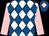 White and royal blue diamonds, pink sleeves, royal blue cap, pink diamond (Short, Scandrett, Kelleway)