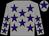 Grey, purple stars, grey cap, purple star (Lime Tree Avenue Racing)