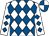 White & royal blue diamonds, quartered cap (Pat Hayes Racing Syndicate)