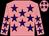 Shocking pink, purple stars (Susan Moyer)