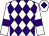White and purple diamonds, white sleeves, purple armlets and diamond on cap (Bestwork Racing)
