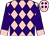 Pink, purple diamonds on front, purple sleeves, pink cuffs (Edward Johnston Racing Stables, Inc)