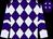 Purple, lavender diamonds, lavender sleeves, purple chevrons, lavender diamonds on cap (Harold Lerner Llc And Nehoc Stables)