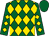 Kelly green, gold diamonds, kelly green cap (Leo Nechamkin II)