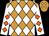 Neon orange, white diamonds, orange diamonds on white sleeves (Sandra Webb)