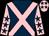 Dark blue body, pink cross belts, pink arms, dark blue stars, pink cap, dark blue stars (Jp Bonardel)