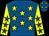 Royal blue, yellow stars, yellow sleeves, royal blue stars (Mr S L Edwards)