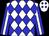 White, blue diamonds, white stripe on blue sleeves (Dennis Turner)