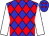 Blue, red diamonds, white sleeves (Three Chimneys Farm, Llc)