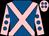 Royal blue, pink cross sashes, pink sleeves, royal blue spots, pink cap, royal blue spots (Jp Bonardel/b Mekki/n Ricignuolo)