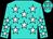 Turquoise, white stars, turquoise cap, white stars (John McClutchy)