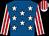 Royal blue, white stars, white & red striped sleeves & cap (Bartholomew Murphy)