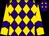 Purple, gold diamonds, purple chevron on gold sleeves (Detmar, Wayne And Voss, Gene A)