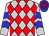 Silver, red diamonds, blue chevrons on sleeves, blue and red hooped cap (Rps Racing Stable Llc)