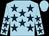 Light blue, dark blue stars, light blue cap (J Guerrero)