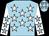 Light blue, white stars, white sleeves, light blue stars (Sky's The Limit)