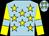 Light blue, yellow stars, yellow sleeves, light blue armlets (Alan & Sue Cronshaw)