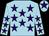 Light blue, purple stars, purple star on cap (Ms Caroline Ahearn)