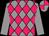 Grey body, rose diamonds, grey arms, grey cap, rose quartered (Np Gill)