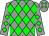 Grey and green diamonds (Dmc Stable, Knauer, Richard And Stegmaier, Jr , George)