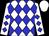 White, blue diamonds, white cap (Susan Centeno)