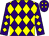Purple, yellow diamonds (West Stables Llc)