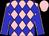 pink and blue diamonds, blue sleeves, pink seams, pink cap (Mahr, John)