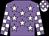 Mauve body, white stars, white arms, mauve checked, white cap, mauve checked (A Ren)