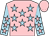 Rose body, blue-light stars, blue-light arms, rose stars, rose cap (Mlle Ll Rohn-pelvin)