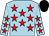 Light blue, red stars, black cap (D Higgs J J Bridger)
