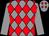 Grey and red diamonds, grey sleeves (Mr A B Hamilton)