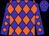 Blue, black, grey, green, orange diamonds (Kcmh Racing Llc)