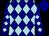 Navy blue, light blue diamonds, navy blue cap (Dennis Drazin)