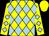 Yellow and light blue diamonds, yellow cap (Supreme Racing)