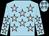 Light blue, silver stars (John Vazquez)