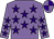Mauve, purple stars, quartered cap (Pete & Pauline Wordingham)