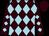 Brown & light blue diamonds, brown cap (P P O'Donnell)