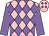 Rose body, mauve diamonds, mauve arms, rose cap, mauve diamonds (Mme A Polard)