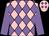 Rose body, mauve diamonds, mauve arms, rose cap, mauve diamonds (Mme A Polard)