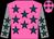 Hot pink, teal stars, grey sleeves, teal stars (Salome, Robert Joseph And Salome, Dana)