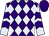 Purple, lavender diamonds, purple chevrons on lavender sleeves, purple cap (Harold Lerner Llc, Awc Stables And Nehoc Stables)