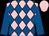 Pink and royal blue diamonds, royal blue sleeves, pink cap (Seabrook Miller)