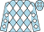Light blue, white diamonds (Adriel Gonzalez)