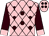Pink, brown balls, pink diamonds and cuffs on brown sleeves (Ted Broussard)