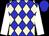 Big-blue body, beige diamonds, white arms, big-blue cap (H Merienne)