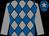 Grey & royal blue diamonds, grey sleeves, royal blue cap, grey star (Sean Fitzsimons & Phoenix Bloodstock Syndicate)