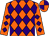 Orange And Purple Diamonds, Orange Sleeves, Purple Diamonds, Orange And Purple quartered Cap (Robyn Thompson)