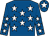 Royal blue, white stars, white star on cap (Cheik Mohammed Bin K Al Thani)