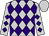 Silver, purple diamonds, purple diamonds on sleeves, silver cap (Adam Staple)